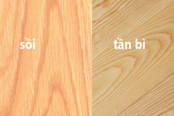 Cách phân biệt gỗ tần bì và gỗ sồi