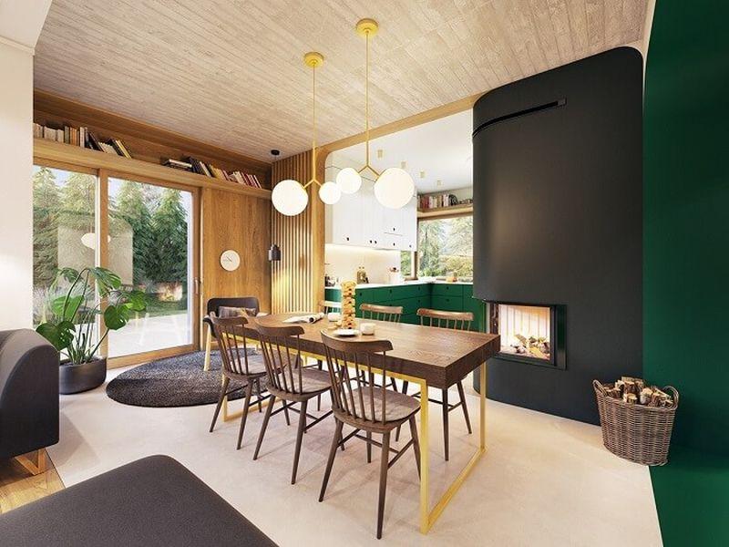 Mẫu thiết kế nội thất tại Quảng Ninh - Phòng ăn đơn giản, tự nhiên