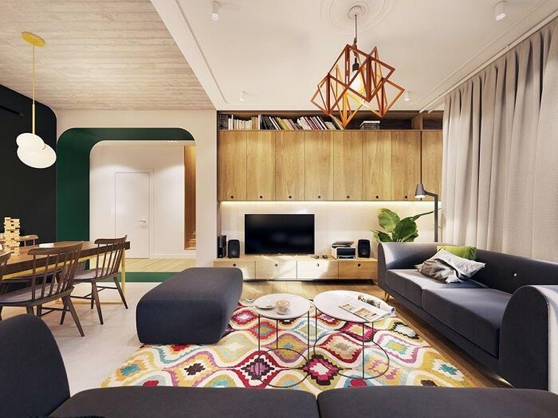 Mẫu thiết kế nội thất tại Quảng Ninh - Điểm nhấn về màu sắc