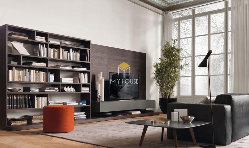 Cách lựa chọn vách tivi phòng khách - chọn chất liệu