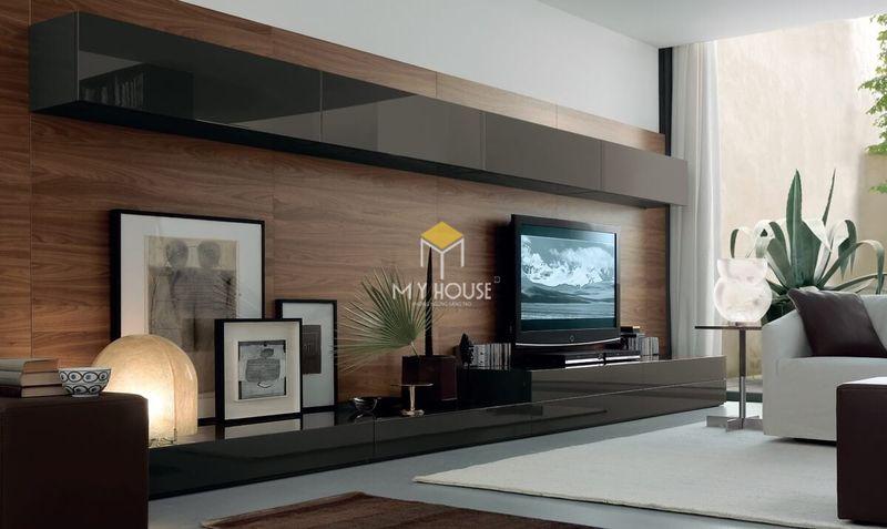 Cách lựa chọn vách tivi phòng khách - chọn màu sắc