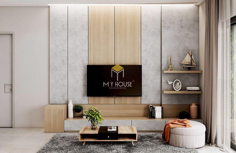 Cách lựa chọn vách tivi phòng khách - chọn hình dáng và kích thước