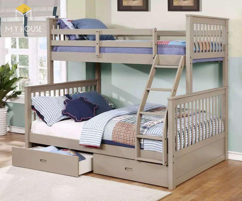 Thiết kế phòng ngủ nhỏ 2 giường - Mẫu 12