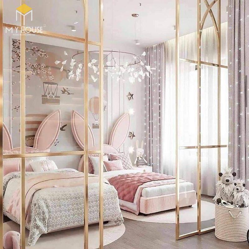 Thiết kế phòng ngủ nhỏ 2 giường - Mẫu 11