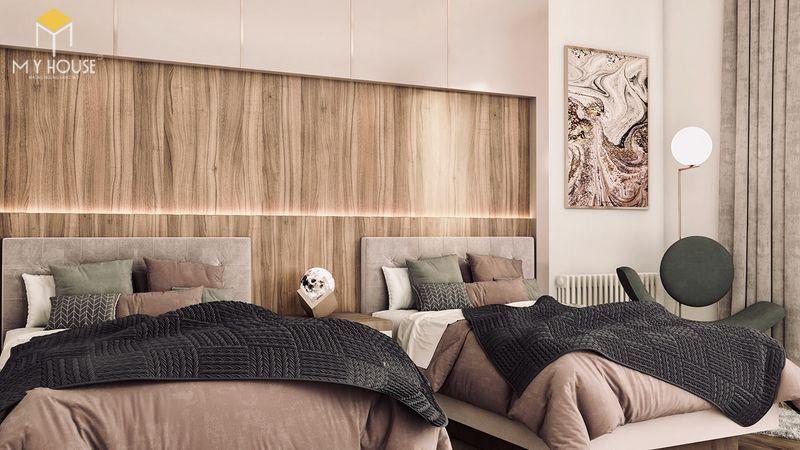 Thiết kế phòng ngủ nhỏ 2 giường 3