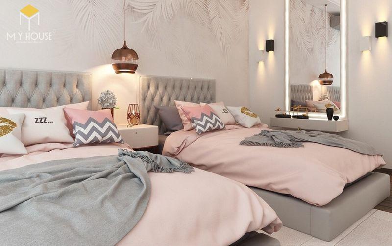 Thiết kế phòng ngủ nhỏ 2 giường - Mẫu 03