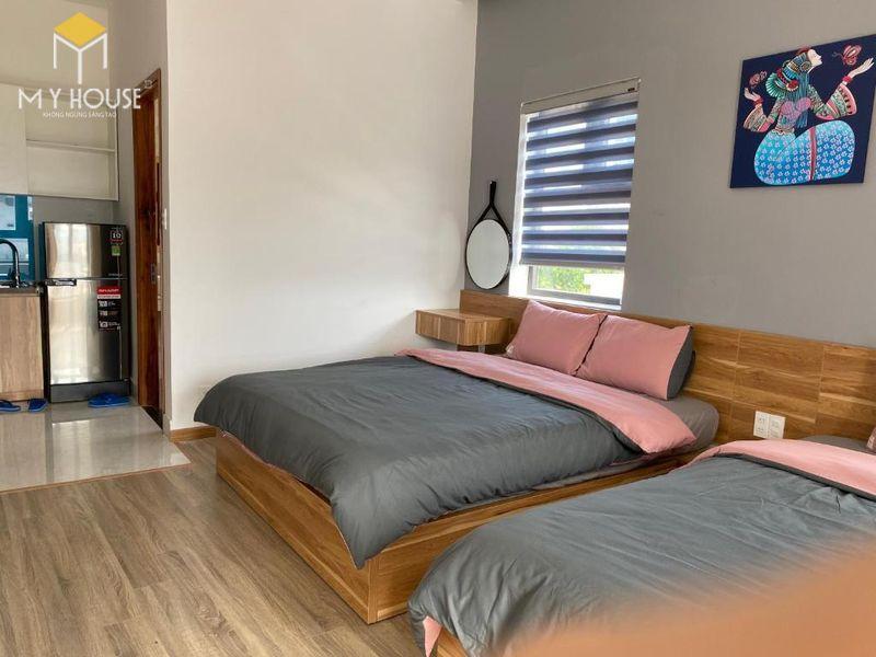 Thiết kế phòng ngủ nhỏ 2 giường - Mẫu 05