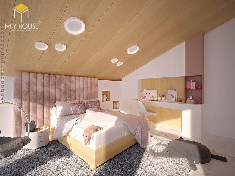 Mẫu giường ngủ đẹp cho nữ - Mẫu 10