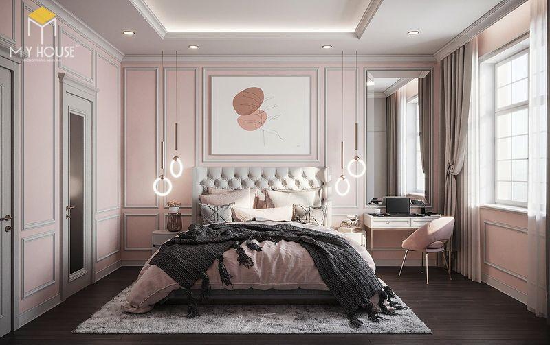 Mẫu giường ngủ đẹp cho nữ - Mẫu 04
