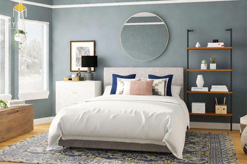 Kê giường ngủ đúng cách - Hướng giường ngủ lệch với cửa ra vào và cửa sổ