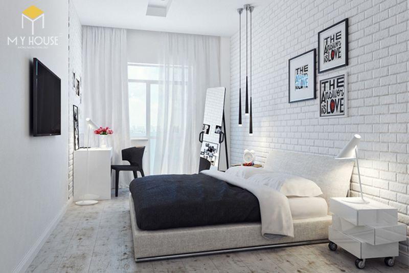 Kê giường ngủ đúng cách - Đầu giường sát tường