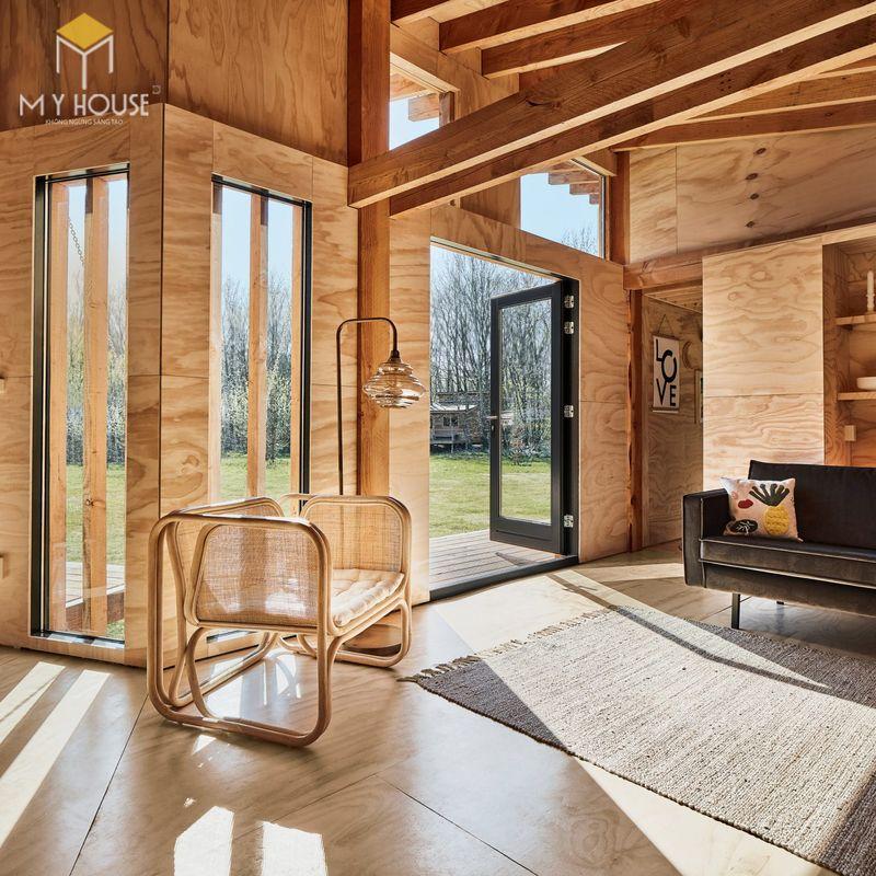 Mẫu thiết kế nội thất bên trong nhà gỗ 07