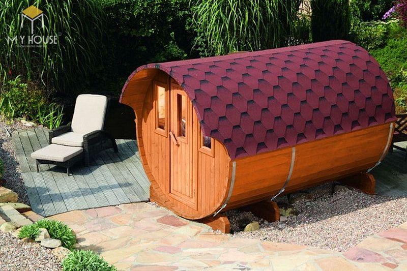 Thiết kế nhà gỗ nhỏ hình trụ
