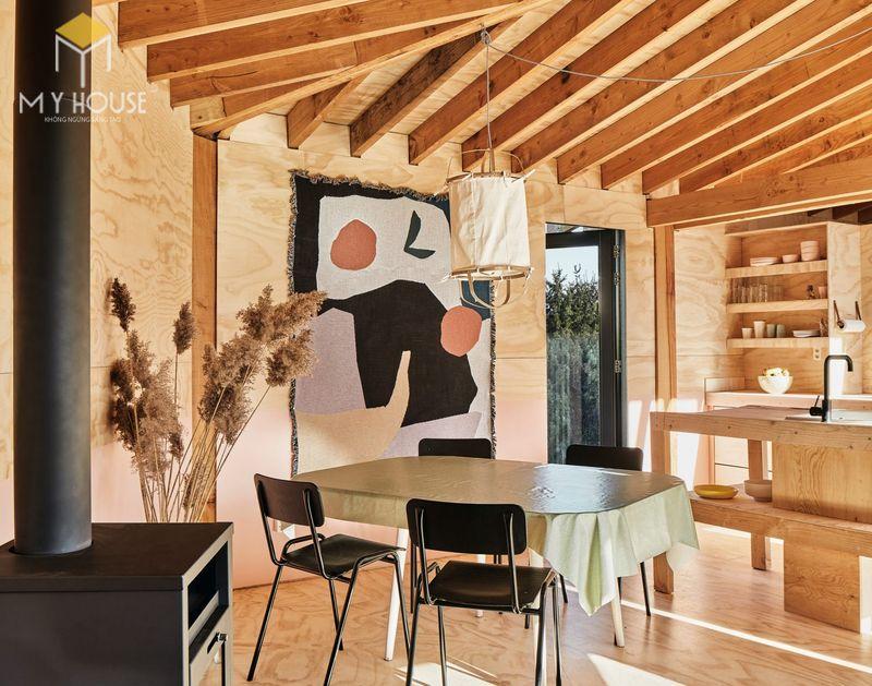 Mẫu thiết kế nội thất bên trong nhà gỗ 05