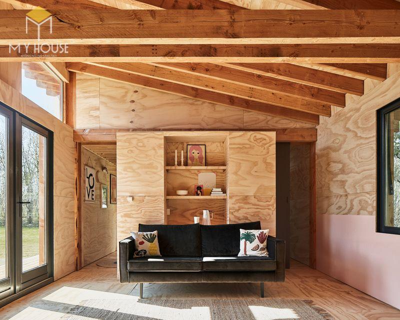 Mẫu thiết kế nội thất bên trong nhà gỗ 06