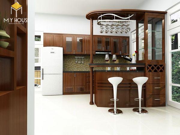 Mẫu quầy bar tủ bếp đẹp - Mẫu 21