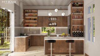 Mẫu quầy bar tủ bếp đẹp 12