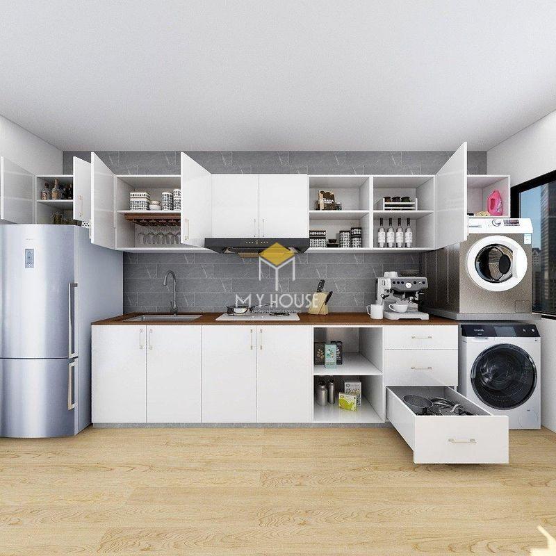 Mẫu tủ bếp dài 2m - Mẫu 11