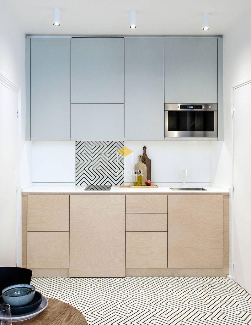 Mẫu tủ bếp dài 2m - Mẫu 12