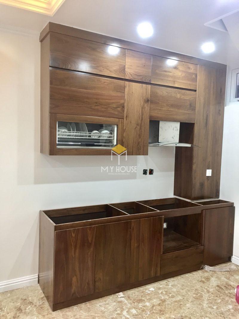 Mẫu tủ bếp dài 2m - Mẫu 16