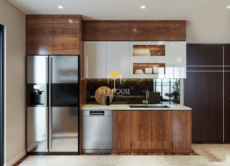 Mẫu tủ bếp dài 2m - Mẫu 05