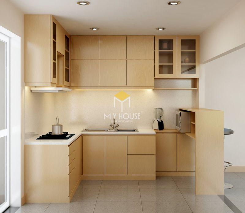 Mẫu tủ bếp dài 2m - Mẫu 15
