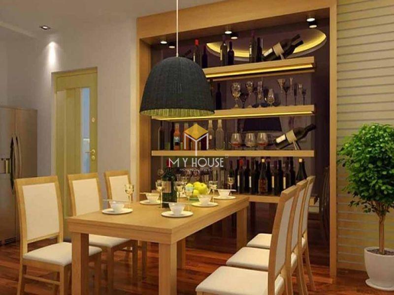 Mẫu tủ rượu phòng bếp - Mẫu 12