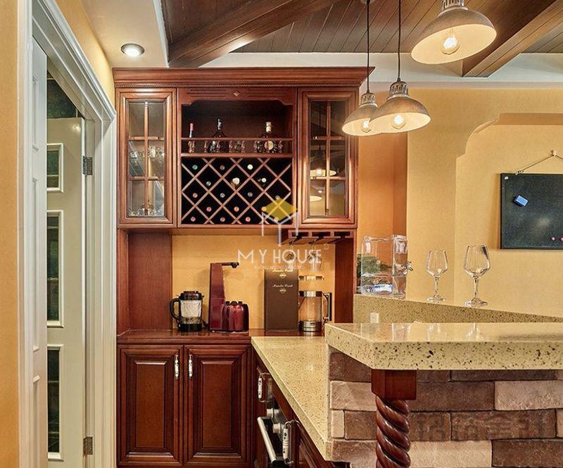 Mẫu tủ rượu phòng bếp - Mẫu 14