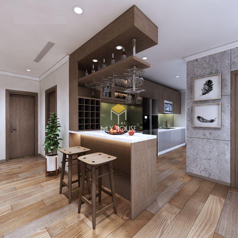 Mẫu tủ rượu phòng bếp - Mẫu 19
