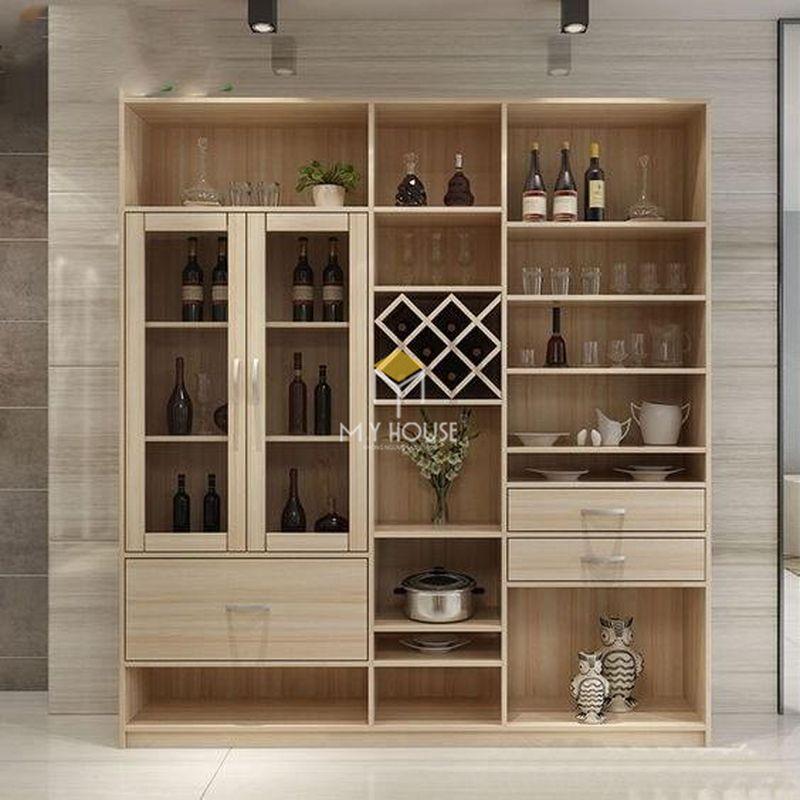 Mẫu tủ rượu phòng bếp - Mẫu 18