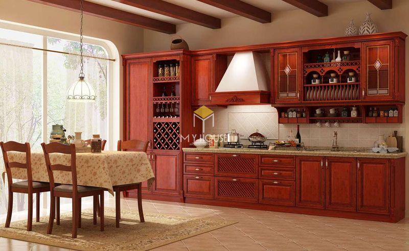 Mẫu tủ rượu phòng bếp - Mẫu 03