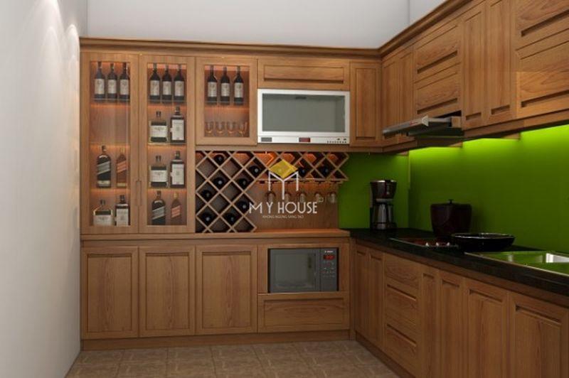 Mẫu tủ rượu phòng bếp - Mẫu 06