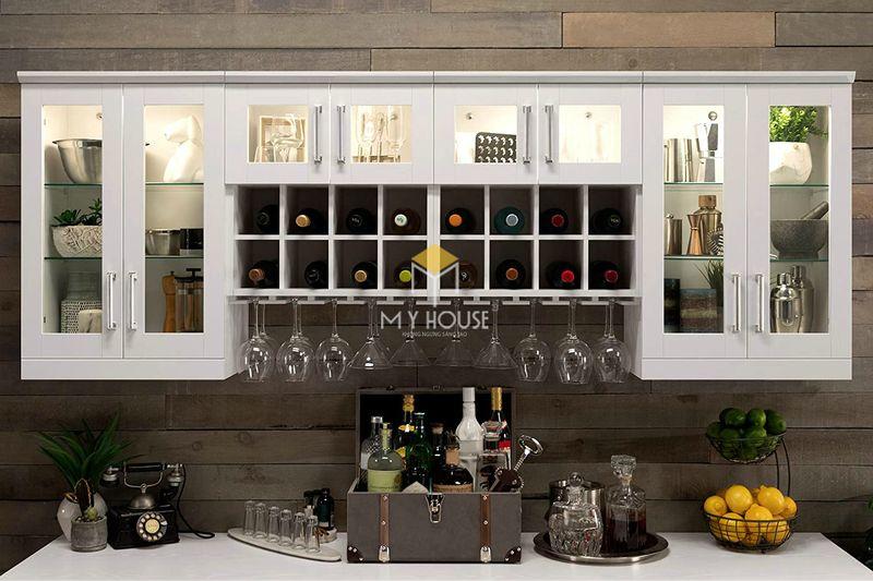 Mẫu tủ rượu phòng bếp 3