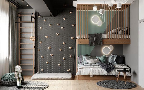 Phòng ngủ chung cho bé trai và bé gái - Mẫu 01