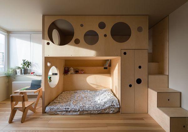 Xu hướng thiết kế phòng ngủ chung cho bé trai và bé gái - Mẫu 15