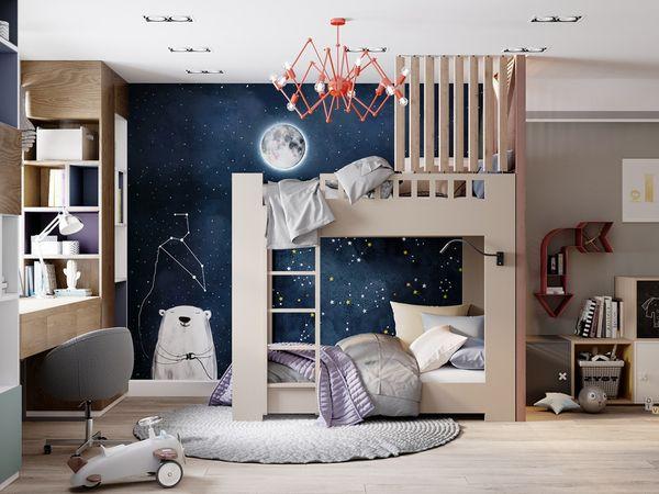Lưu ý khi thiết kế phòng ngủ chung - phương hướng phòng ngủ - Mẫu 16
