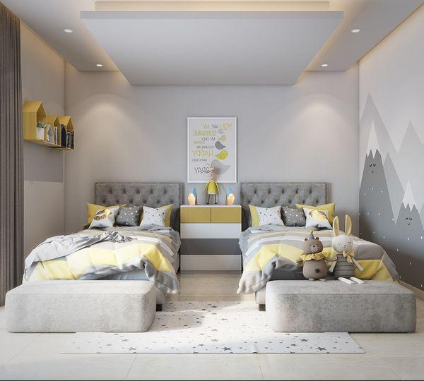 Phòng ngủ chung cho bé trai và bé gái - Mẫu 11