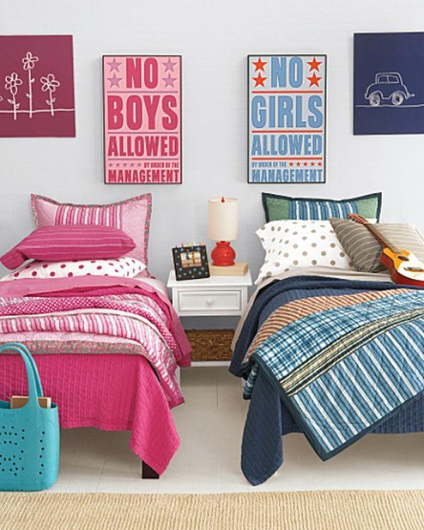 Phòng ngủ chung cho bé trai và bé gái - Mẫu 12