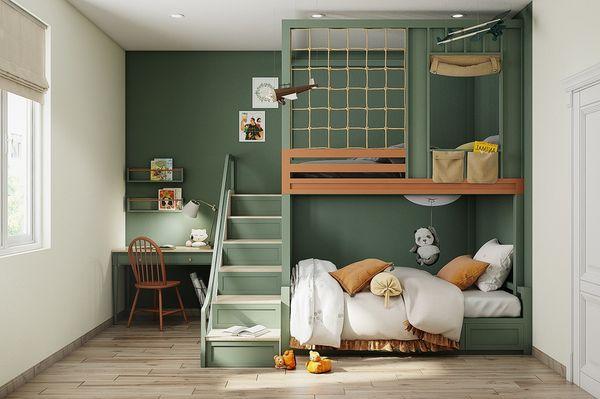 Phòng ngủ chung cho bé trai và bé gái - Mẫu 03