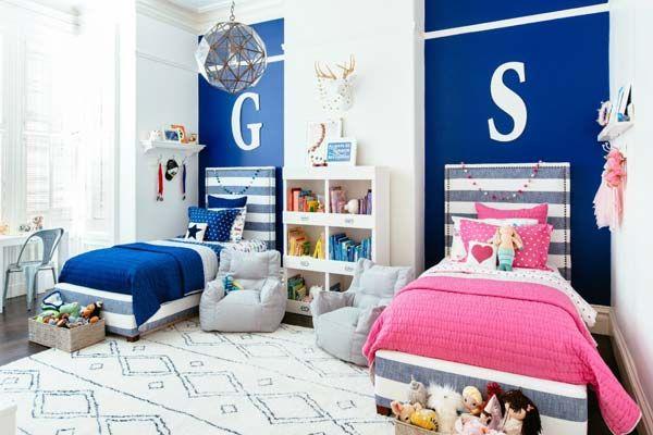 Phòng ngủ chung cho bé trai và bé gái - Mẫu 04