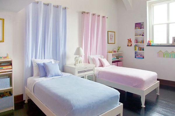 Phòng ngủ chung cho bé trai và bé gái - Mẫu 06