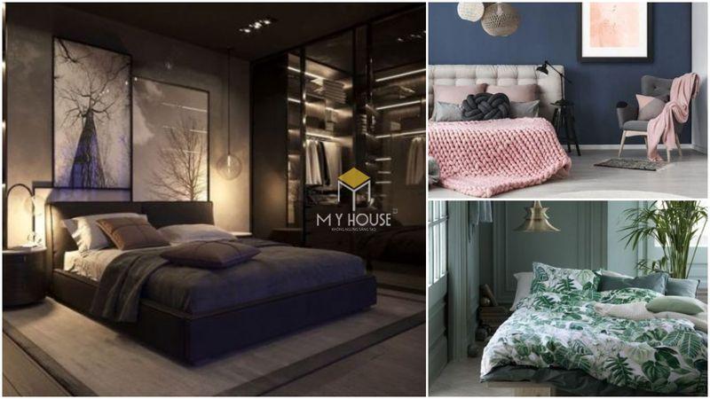 Phòng ngủ đẹp cho nữ màu xanh - mẫu 01