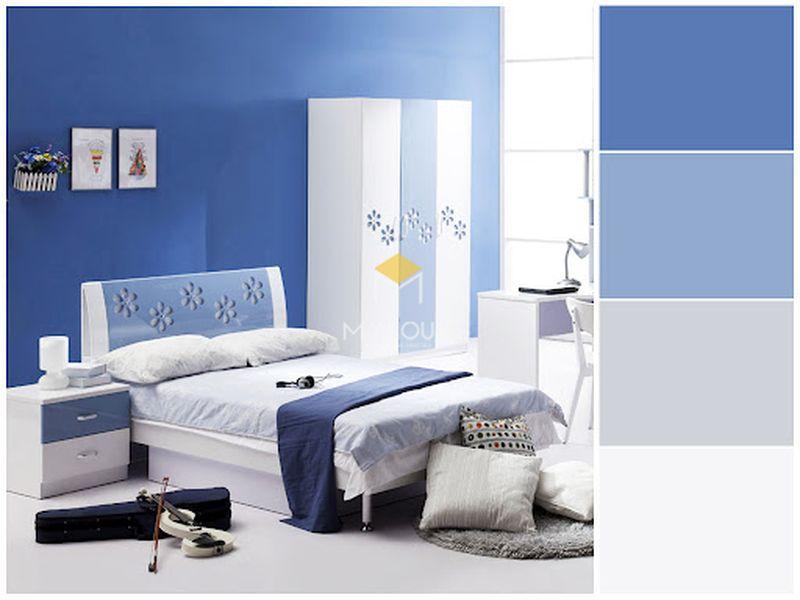 Phòng ngủ đẹp cho nữ màu xanh - mẫu 14