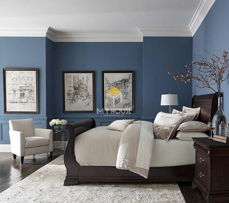 Phòng ngủ đẹp cho nữ màu xanh 3