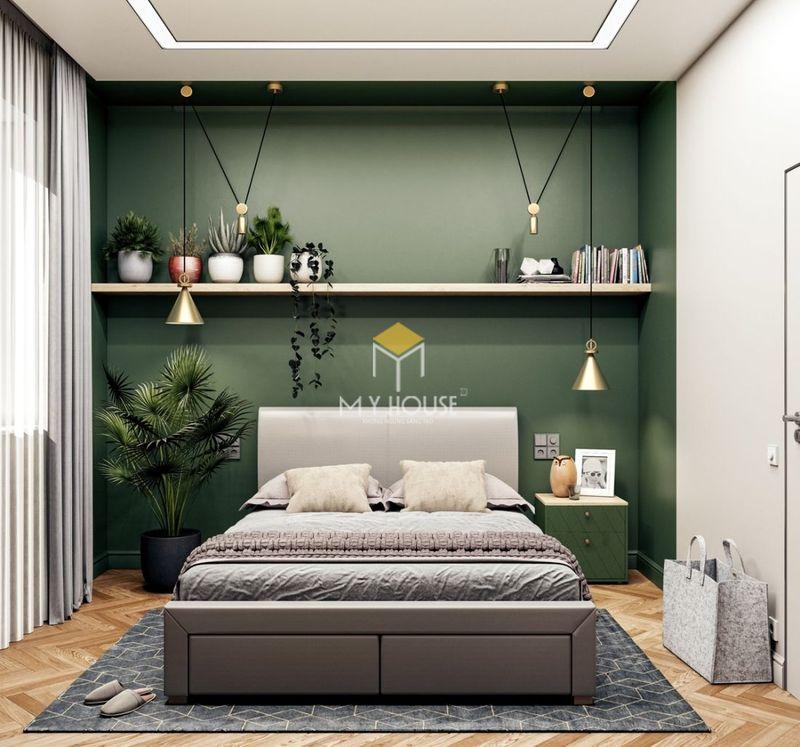 Phòng ngủ đẹp cho nữ màu xanh - mẫu 11