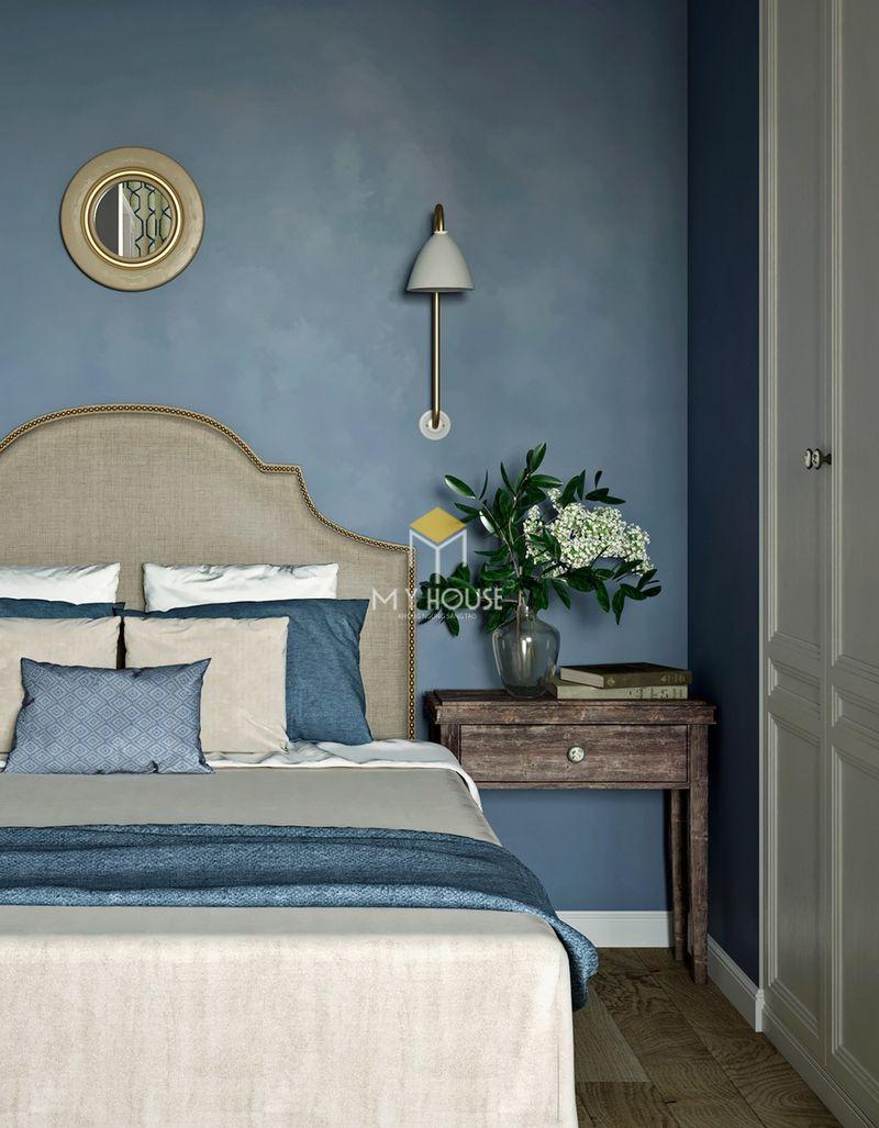Phòng ngủ đẹp cho nữ màu xanh - mẫu 17