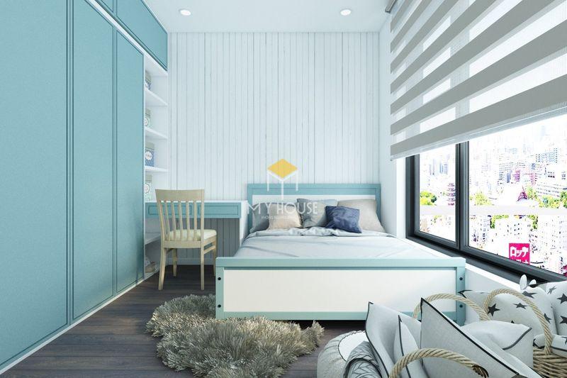 Phòng ngủ đẹp cho nữ màu xanh - mẫu 03