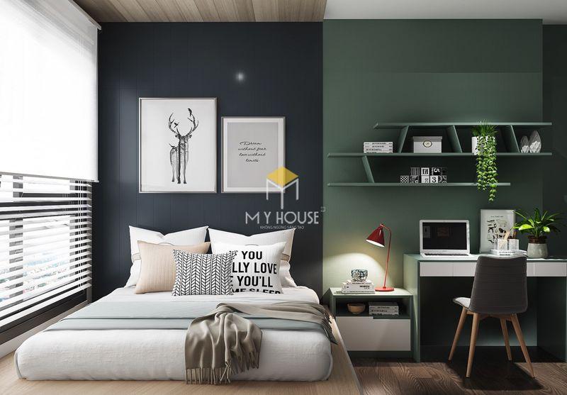 Phòng ngủ đẹp cho nữ màu xanh - mẫu 15