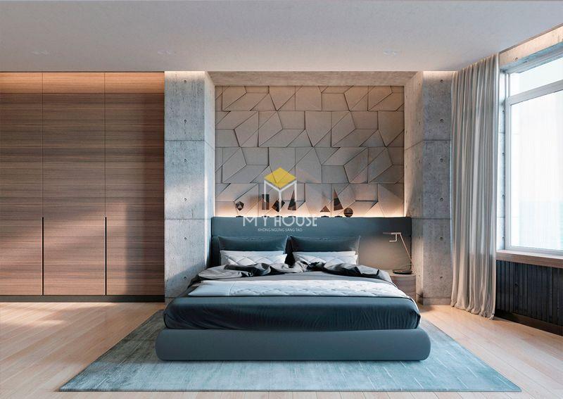 Phòng ngủ đẹp cho nữ màu xanh - mẫu 07