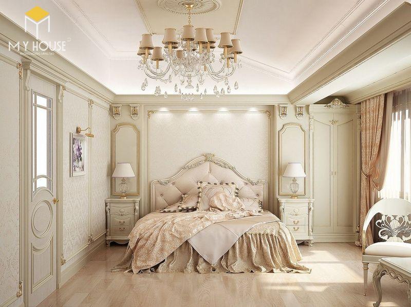 Phòng ngủ sang trọng nhất thế giới kết hợp đèn chùm trang trí - Mẫu 15